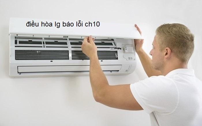 điều hòa lg báo lỗi ch10