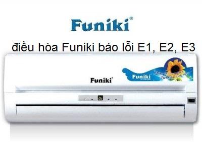 điều hòa Funiki báo lỗi E1, E2, E3